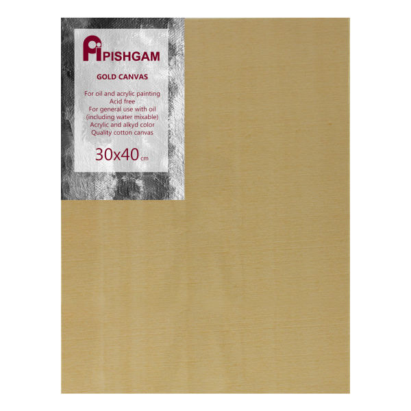 بوم طلایی نقاشی پیشگام مدل دور سفید سایز 30x40 سانتی متر