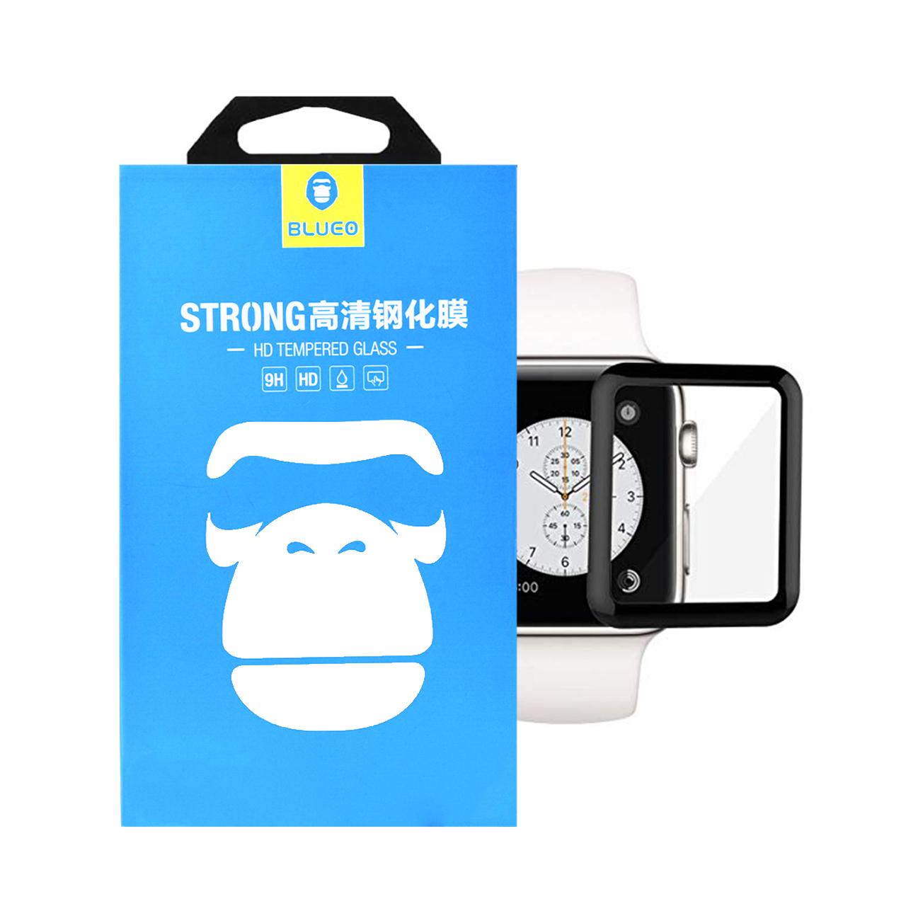 محافظ صفحه نمایش Full Cover شیشه ای بلو مدل STRONG مناسب برای اپل واچ 38mm