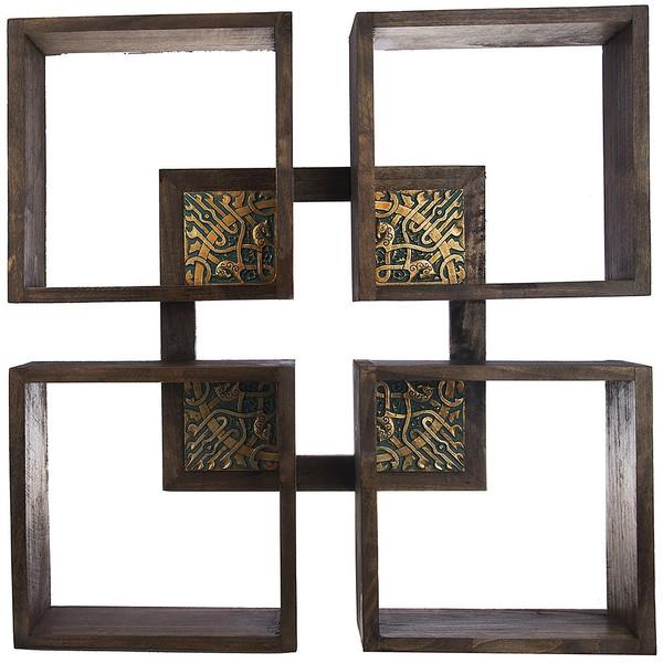 طبقه چوبی گالری آسوریک مدل قاب دار