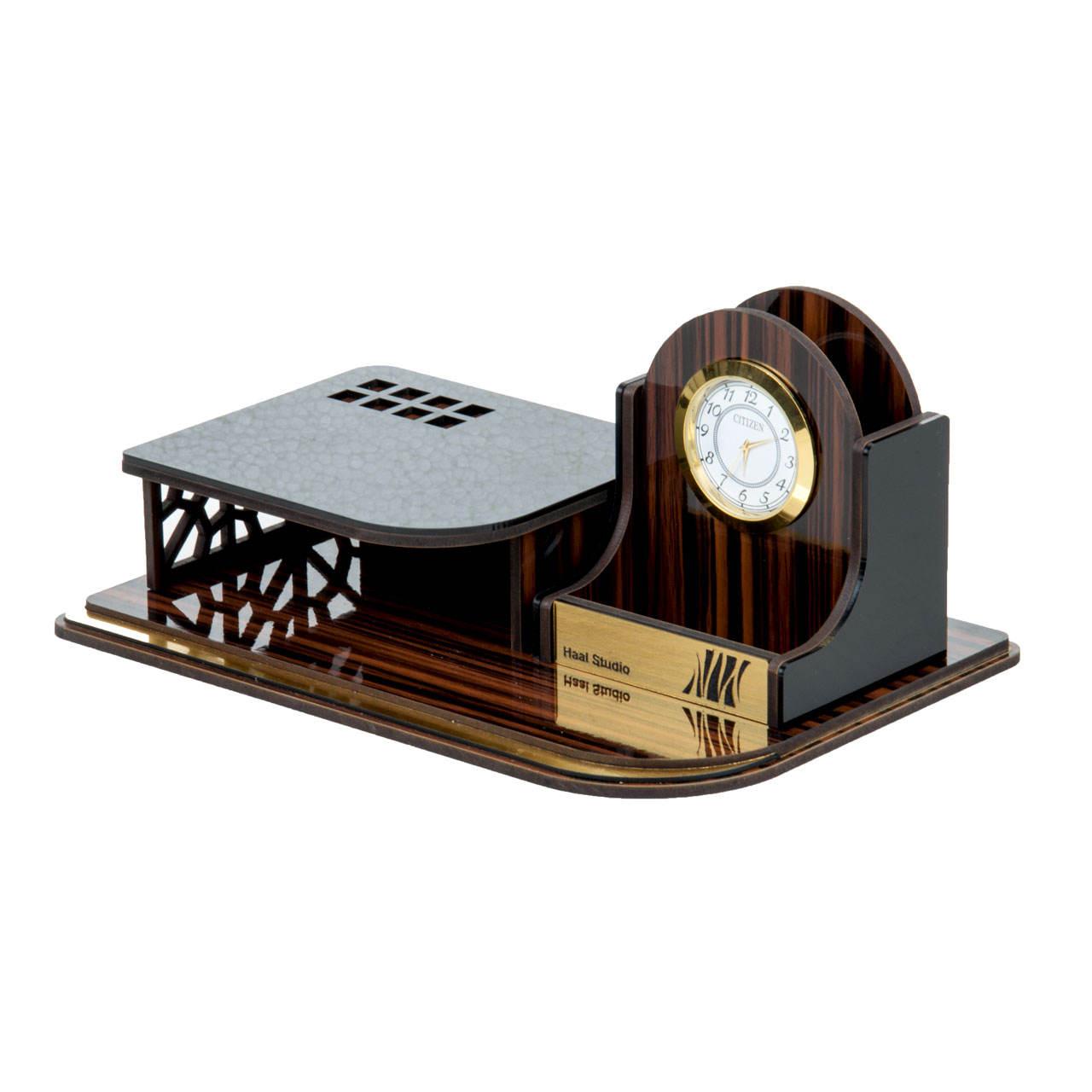 ساعت رومیزی حال مدل آبنوس