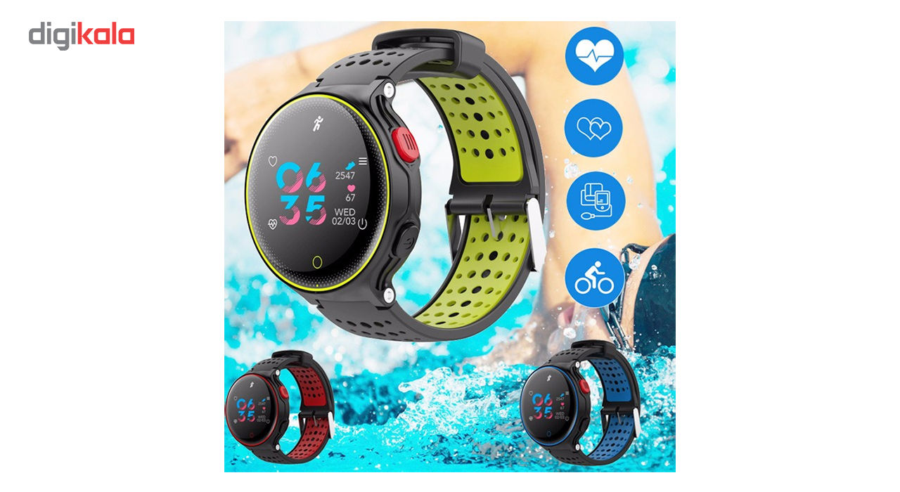 ساعت هوشمند میکروویر مدل X2 PLUS سنسور اکسیژن خون main 1 2