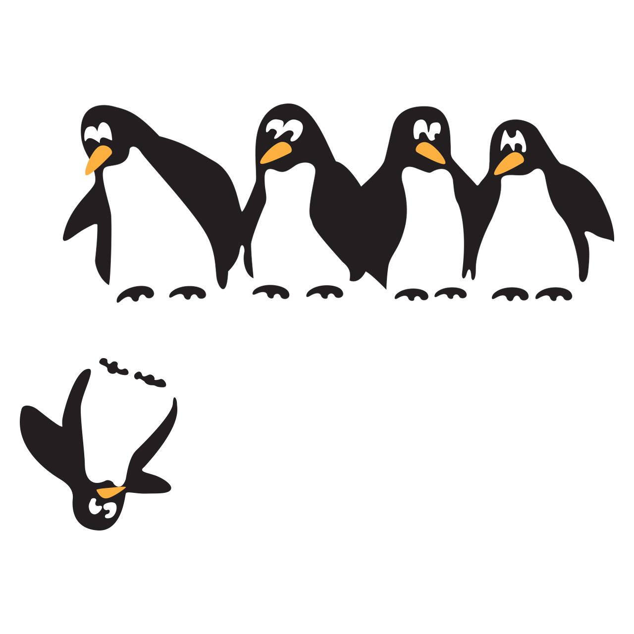 استیکر یخچال گراسیپا مدل پنگوئن ها
