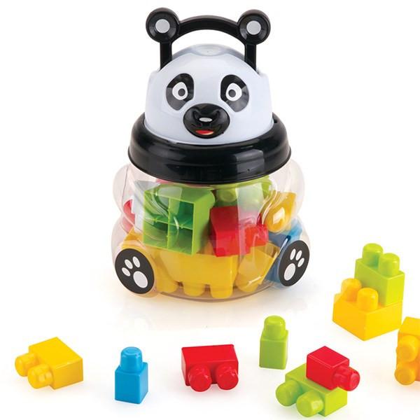 بلوکهای ساختنی 18 تکه دولو مدل Panda Deluxe Blocks کد 5070