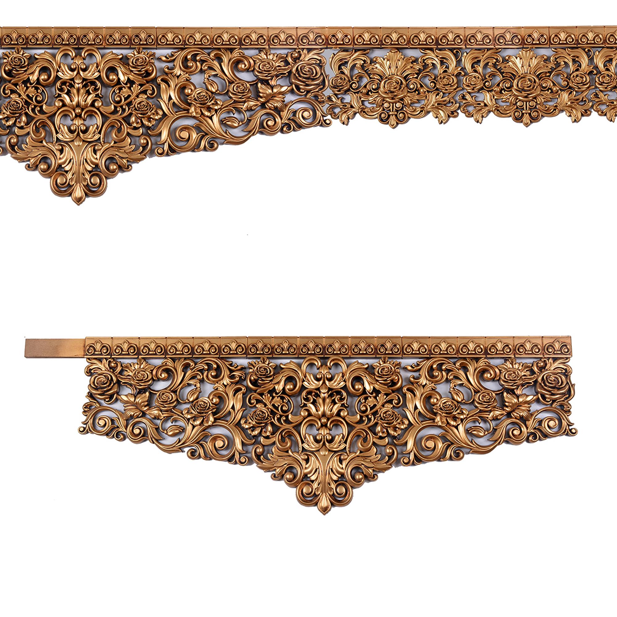 کتیبه پرده گل رز طلایی تاجدار(5 متر و 60 سانت)