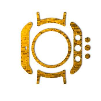 برچسب ماهوت مدل Gold-pixel Special مناسب برای ساعت هوشمند LG Watch Sport