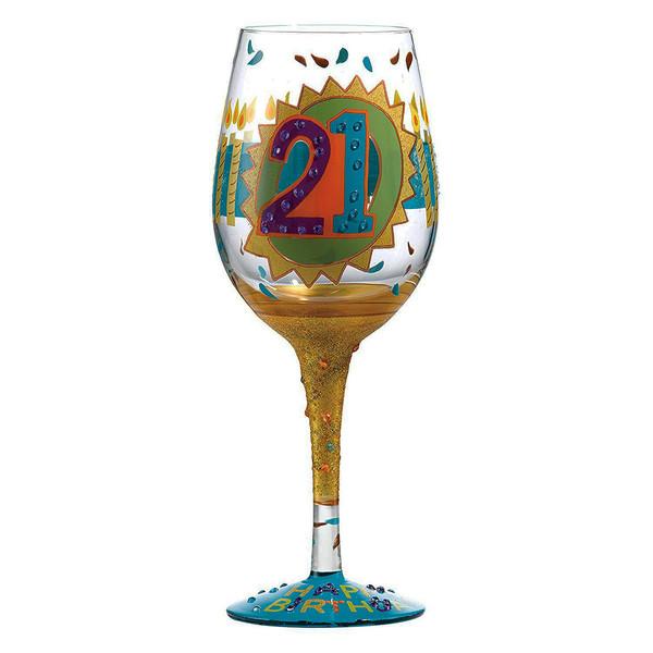 لیوان پایه بلند شیشه ای لولیتا مدل 21st Birthday