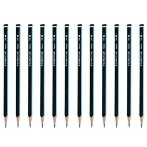 مداد مشکی استدلر مدل Noris بسته 12 عددی