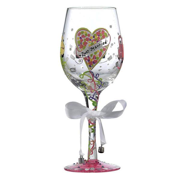 لیوان پایه بلند شیشه ای لولیتا مدل Just Married