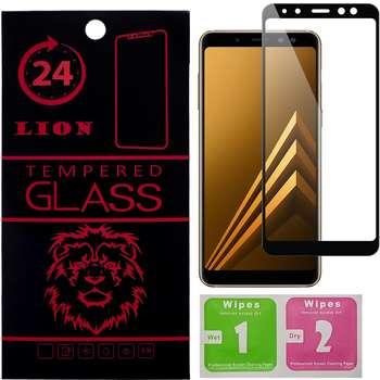 محافظ صفحه نمایش شیشه ای لاین مدل 5D مناسب برای گوشی سامسونگ Galaxy A7 2018