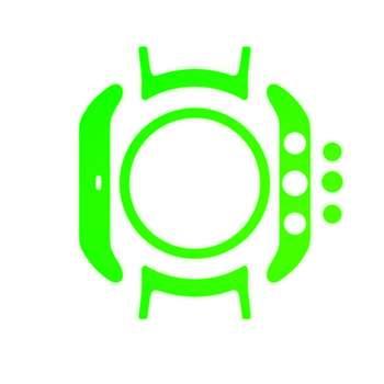 بسته 2 عددی برچسب ماهوت مدل Fluorescence Special  مناسب برای ساعت هوشمند LG Watch Sport