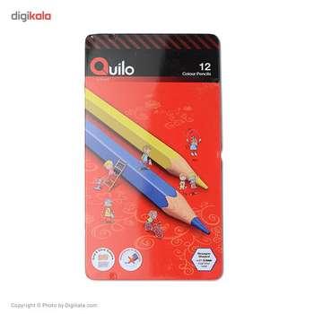 مداد رنگی 12 رنگ کوییلو کد 634006