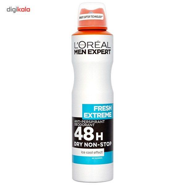 اسپری ضد تعریق مردانه لورآل سری Men Expert مدل Fresh Extereme 48H حجم 150 میلی لیتر  LOreal Men Ex