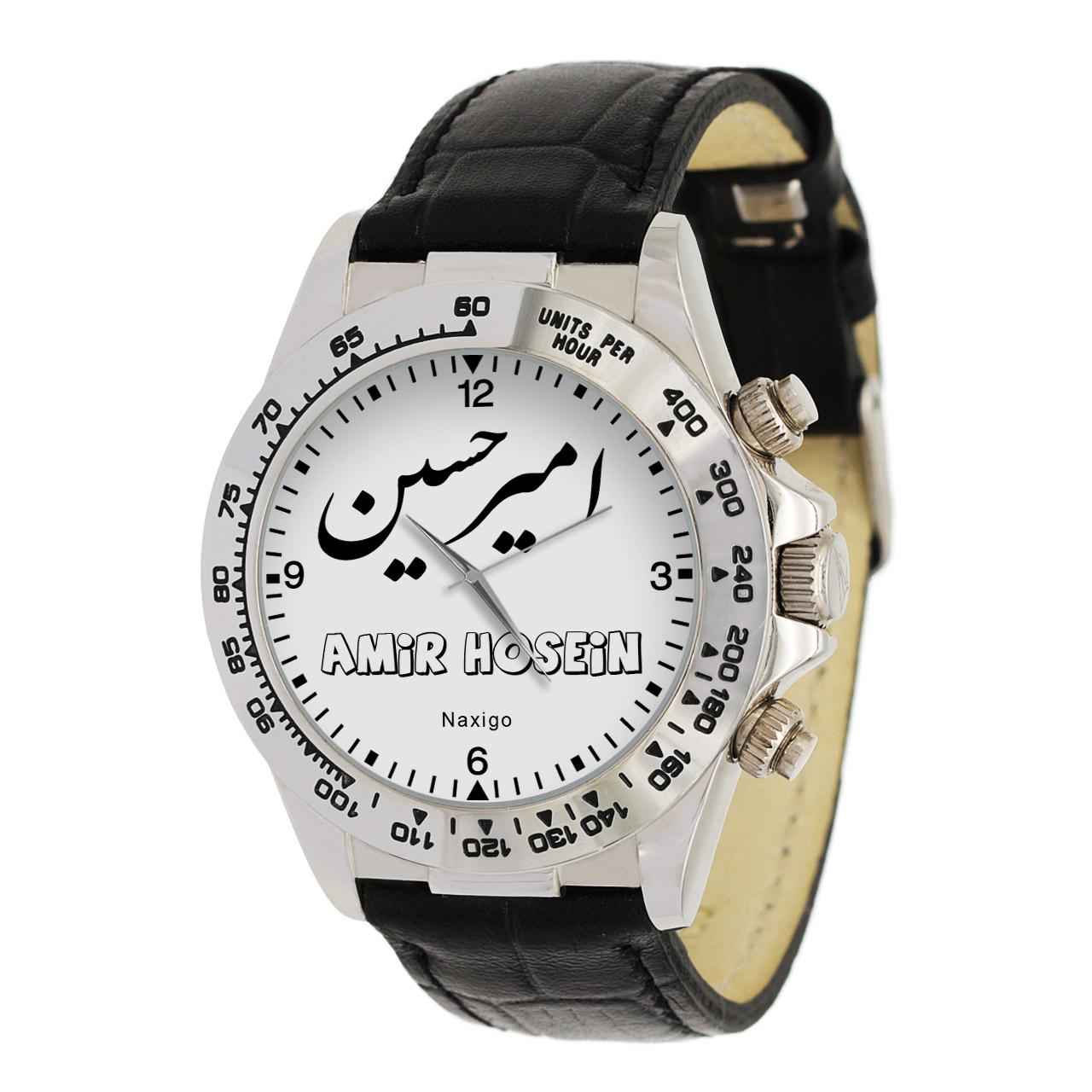قیمت                      ساعت مچی عقربه ای مردانه ناکسیگو طرح امیر حسین کد LS3691