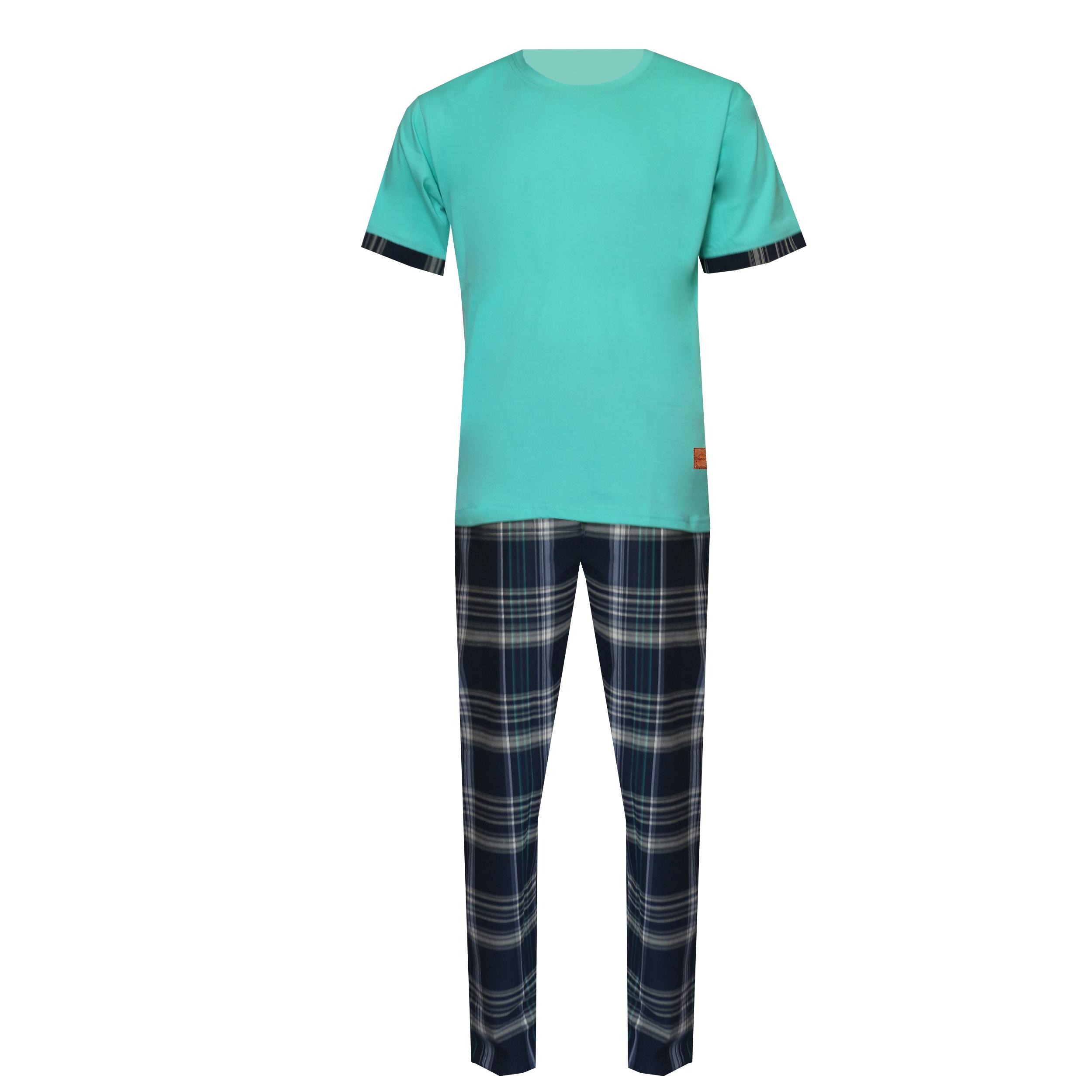 ست تی شرت و شلوار مردانه لباس خونه کد 990803 رنگ سبز