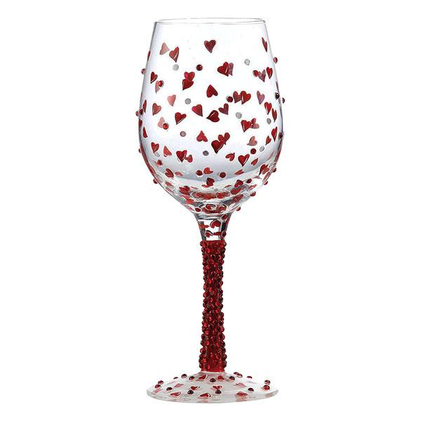 لیوان پایه بلند شیشه ای لولیتا مدل Red Hot
