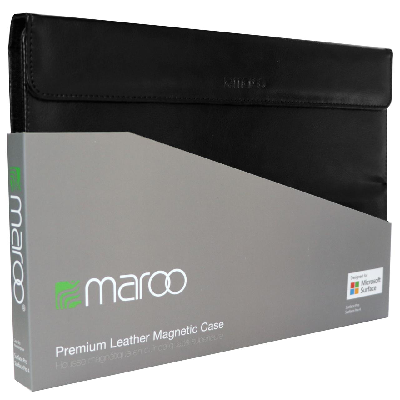 کیف کلاسوری مارو مدل Premium Leather Magnetic مناسب برای Surface Pro 2017 / 4