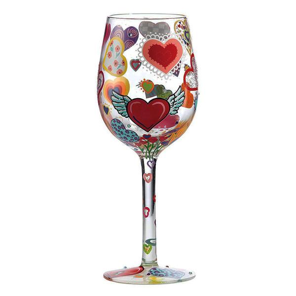 لیوان پایه بلند شیشه ای لولیتا مدل  Heart Rageous
