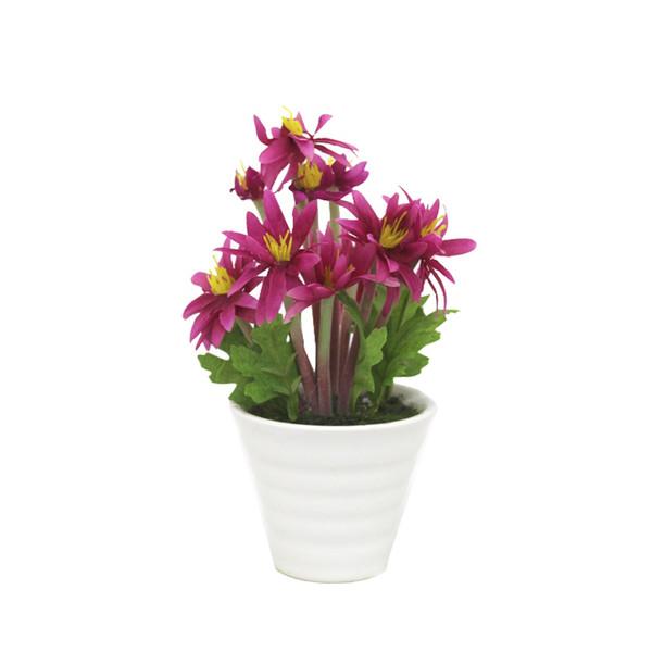 گلدان به همراه گل مصنوعی آتریسا طرح 10 شاخه