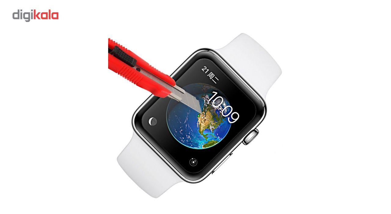 محافظ صفحه نمایش شیشه ای مدل Tempered Glass 3D مناسب برای اپل واچ 38 میلی متر main 1 3