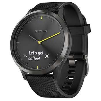 ساعت مچی هوشمند گارمین مدل Vivomove HR Black Silicone Band