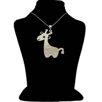 گردنبند نقره ایران شاپ طرح زرافه