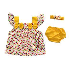 ست 3 تکه لباس نوزادی دخترانه کد 04