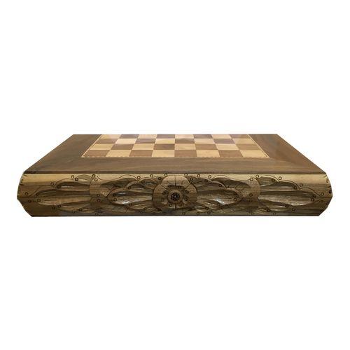 صفحه شطرنج و تخته نرد آرونی طرح گل طول 52 سانتی متر