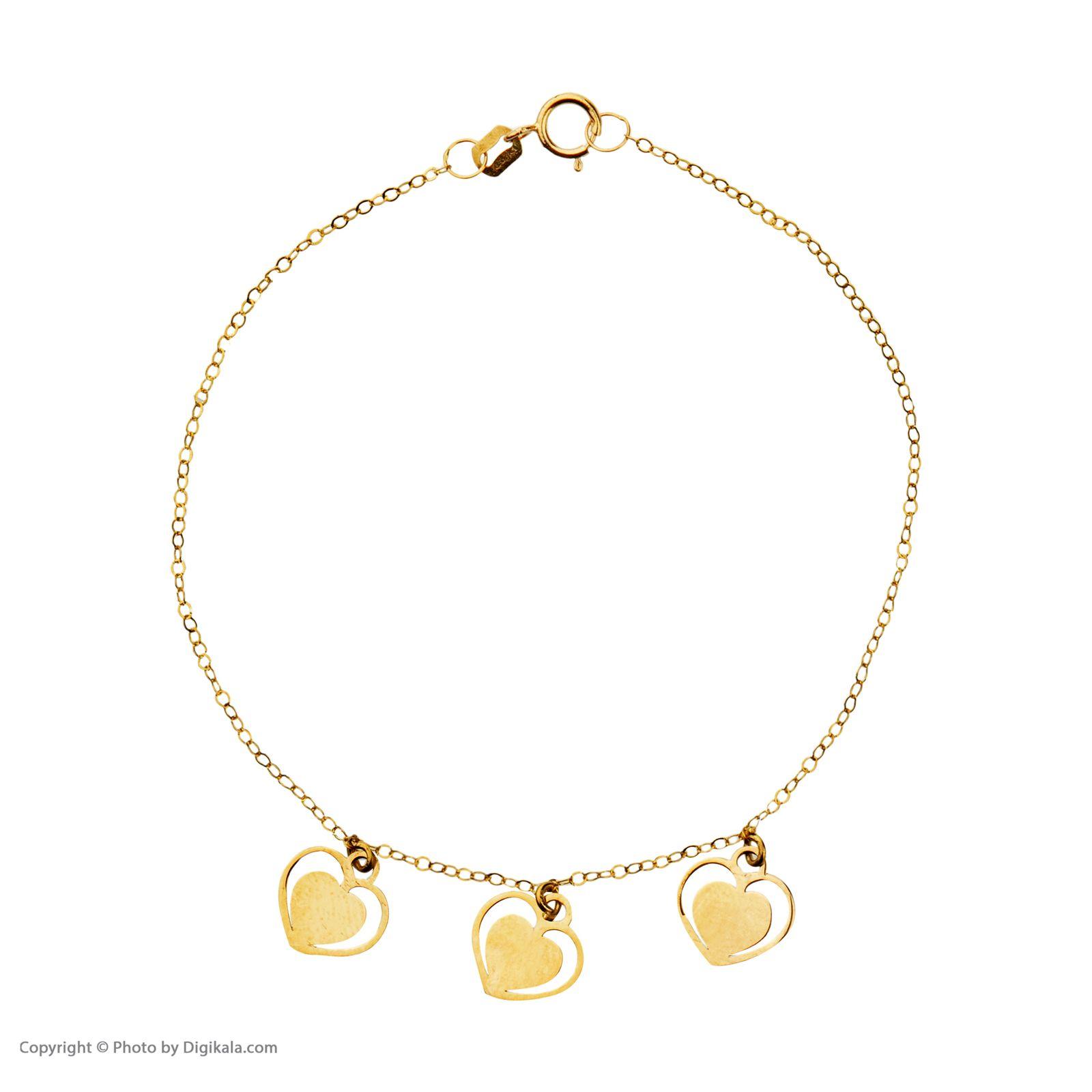 دستبند طلا 18 عیار زنانه میو گلد مدل GD605 -  - 3