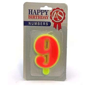 شمع تولد آس مدل عدد 9