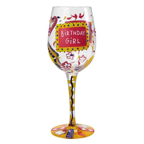 لیوان پایه بلند شیشه ای لولیتا مدل Birthday Girl