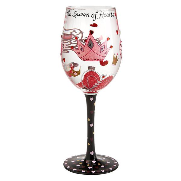 لیوان پایه بلند شیشه ای لولیتا مدل Queen Of Hearts