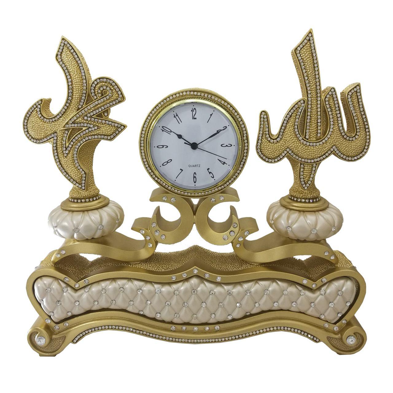 ساعت رو میزی رزین مدل مذهبی