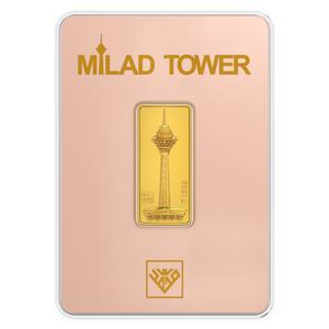 شمش طلا 24 عیار طلای محمد مدل برج میلاد RG