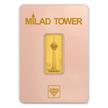 پلاک طلای 24 عیار طلای محمد مدل برج میلاد RG
