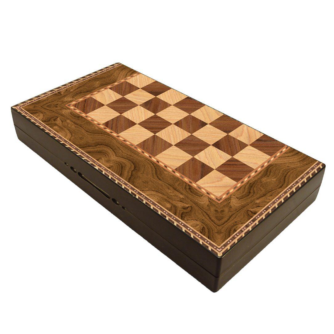 صفحه شطرنج گالری نفیس طرح چوب طول 50 سانتیمتر