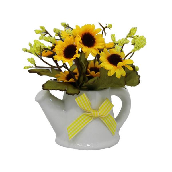 گلدان به همراه گل مصنوعی آتریسا مدل آبپاش
