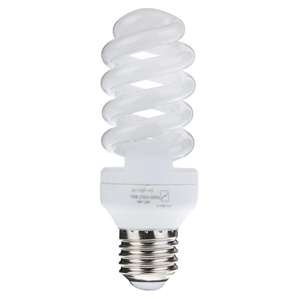 لامپ کم مصرف 18 وات زمان نور مدل Full Spiral پایه E27
