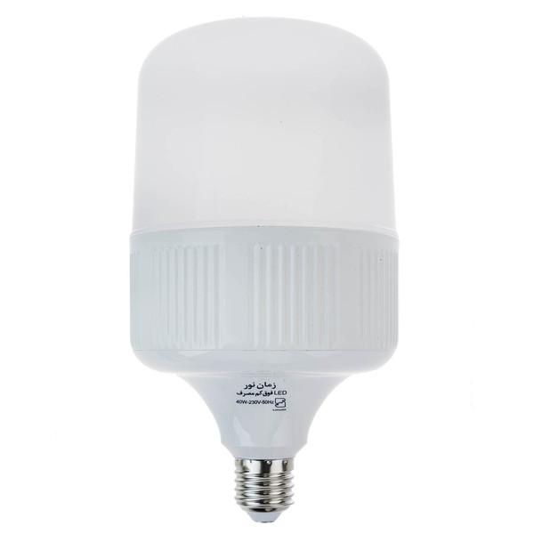 لامپ ال ای دی 40 وات زمان نور مدل Cylindrical پایه E27