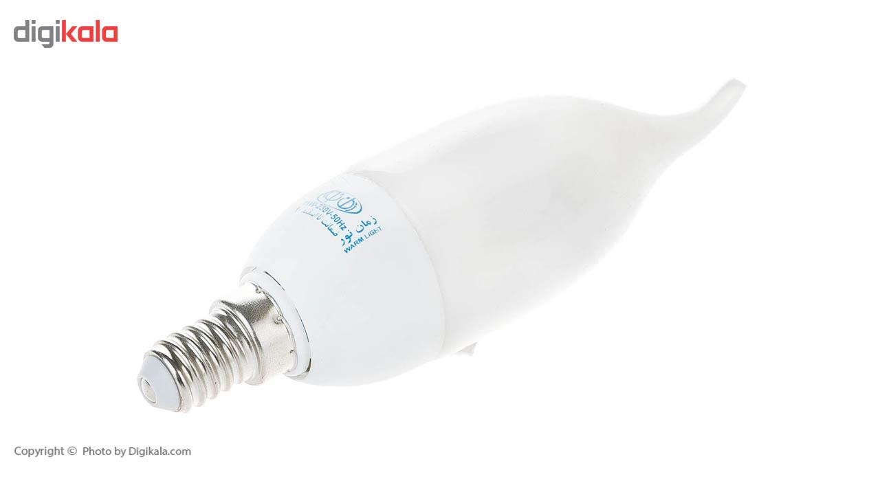 لامپ کم مصرف 9 وات زمان نور پایه E14
