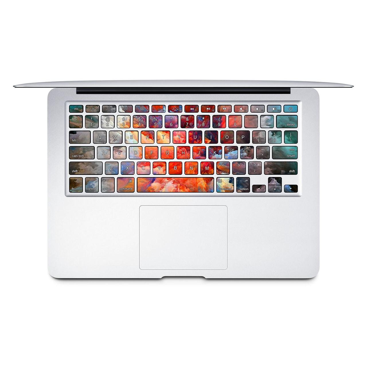 بررسی و {خرید با تخفیف} برچسب تزئینی کیبورد ونسونی مدل Color Splash Art مناسب برای مک بوک اصل