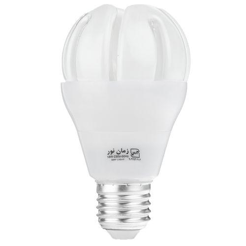 لامپ کم مصرف 18 وات زمان نور مدل Super Global پایه E27