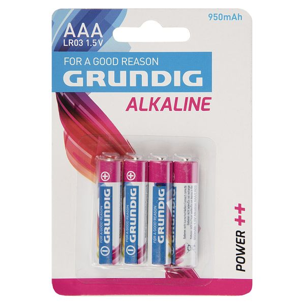 باتری نیم قلمی گراندیگ Alkaline AAA 950mAh
