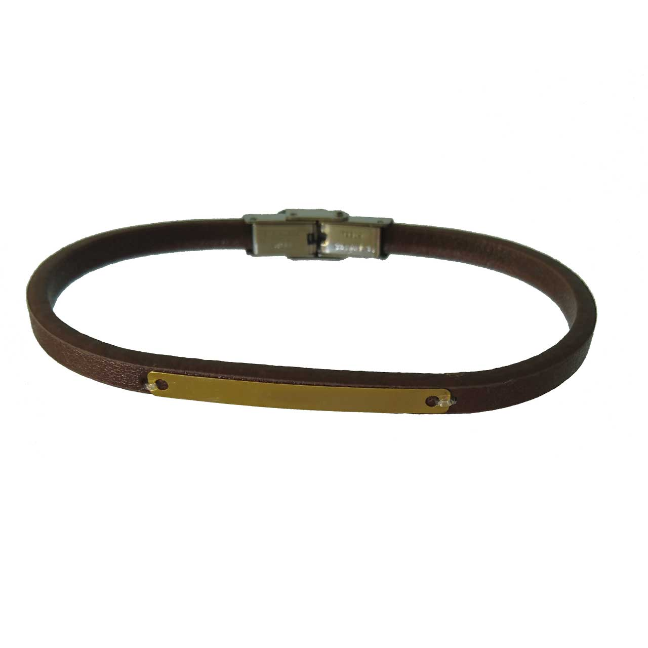 دستبند چرم طلا 18عیار کانیار گالری مدل D733