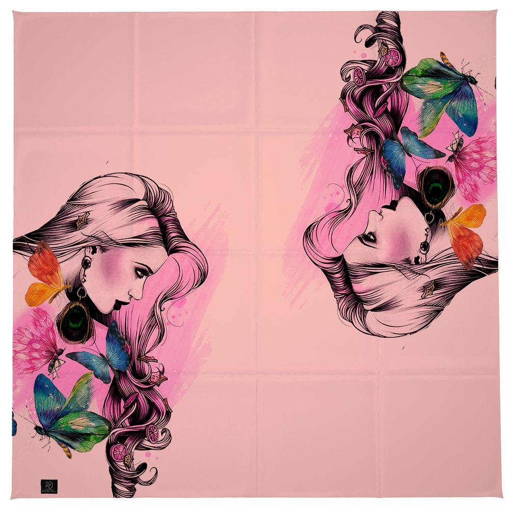 روسری زنانه 27 طرح girl کد H03