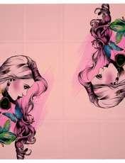روسری زنانه 27 طرح girl کد H03 -  - 1
