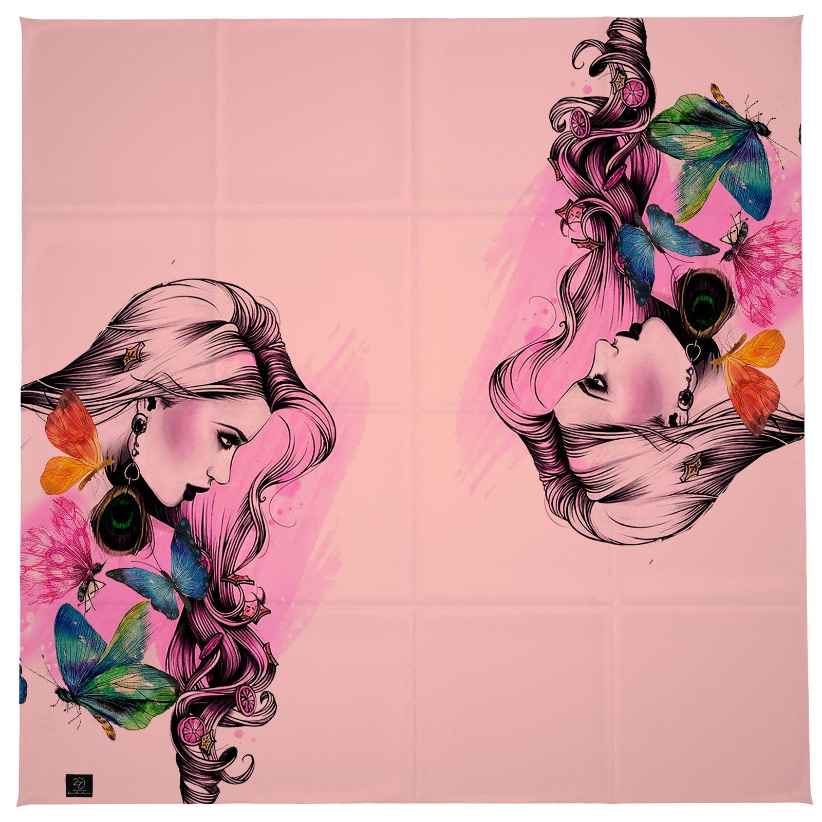 روسری زنانه 27 طرح girl کد H03 -  - 2