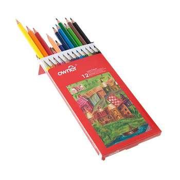 مداد رنگی 12 رنگ اونر