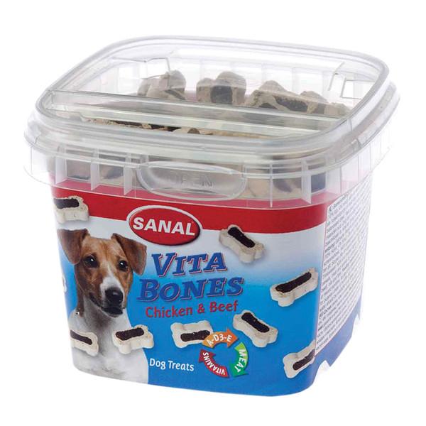 خوراک سگ سانال طرح استخوان با طعم گوشت مرغ و گوساله وزن 100 گرمی