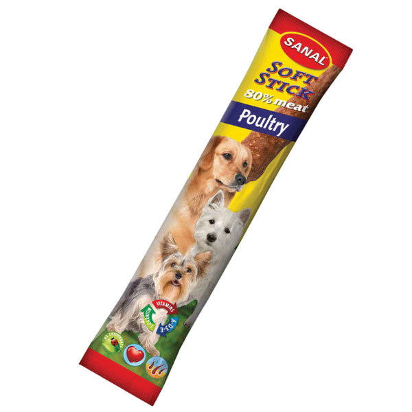 غذای تشویقی سانال مخصوص سگ با طعم گوشت مرغ وزن 12 گرمی