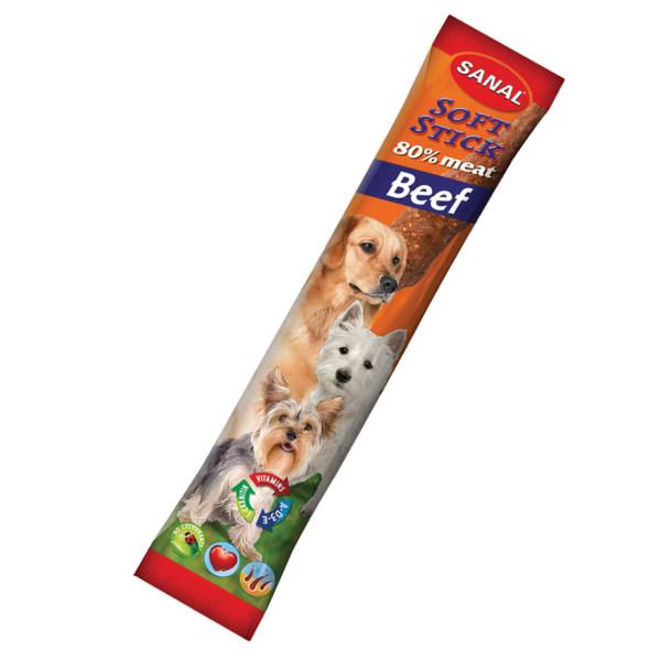 غذای تشویقی سانال مخصوص سگ با طعم گوشت گوساله وزن 12 گرمی